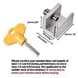 Maxdot 4 Sets Sliding Window Locks Stop Aluminum