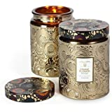 Voluspa Crane Flower Large Metallic Glass Jar Candle 16 oz
