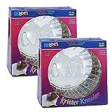 Lee's Kritter Krawler Exercise Ball, Standard, Clear - 7-Inch (2 Pack)