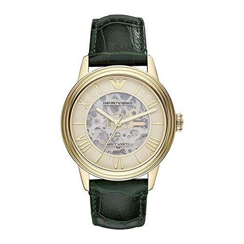 Emporio Armani AR4671 Mens Champagne and Green Dino Meccanico Watch