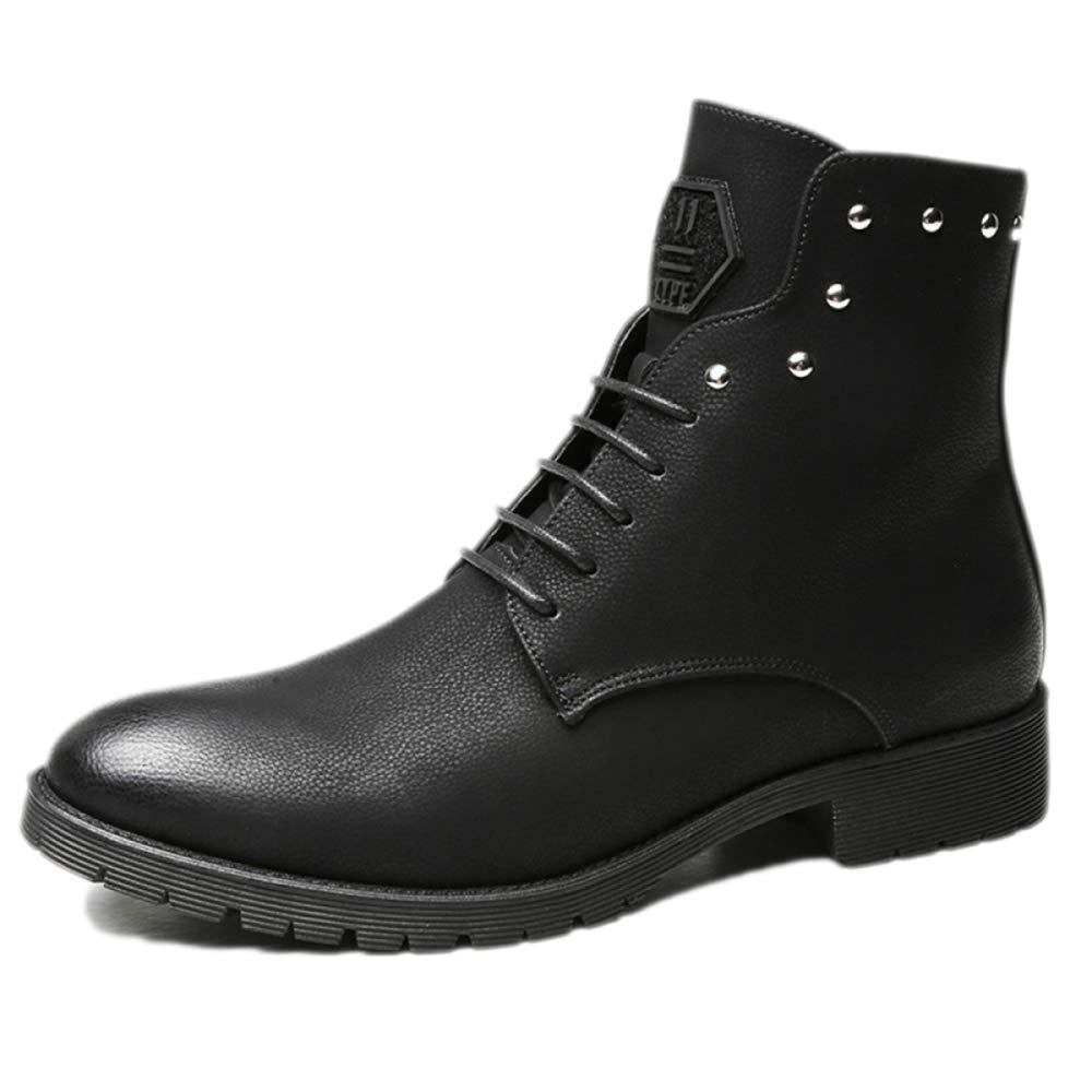 Zapatos De Trabajo Trabajo Trabajo para Hombres, Entrenadores De Seguridad, Impermeables, Ligeros para Caminar, Otoño, Invierno, Botas Martin, Botas para Hombre, Corte Alto, Cuero Al Aire Libre 36d624