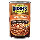 BUSH'S BEST Original Baked Beans, 28 Ounce Can, Plant-based Protein and Fiber, Low Fat, Gluten Free, Canned Baked Beans, Canned Beans