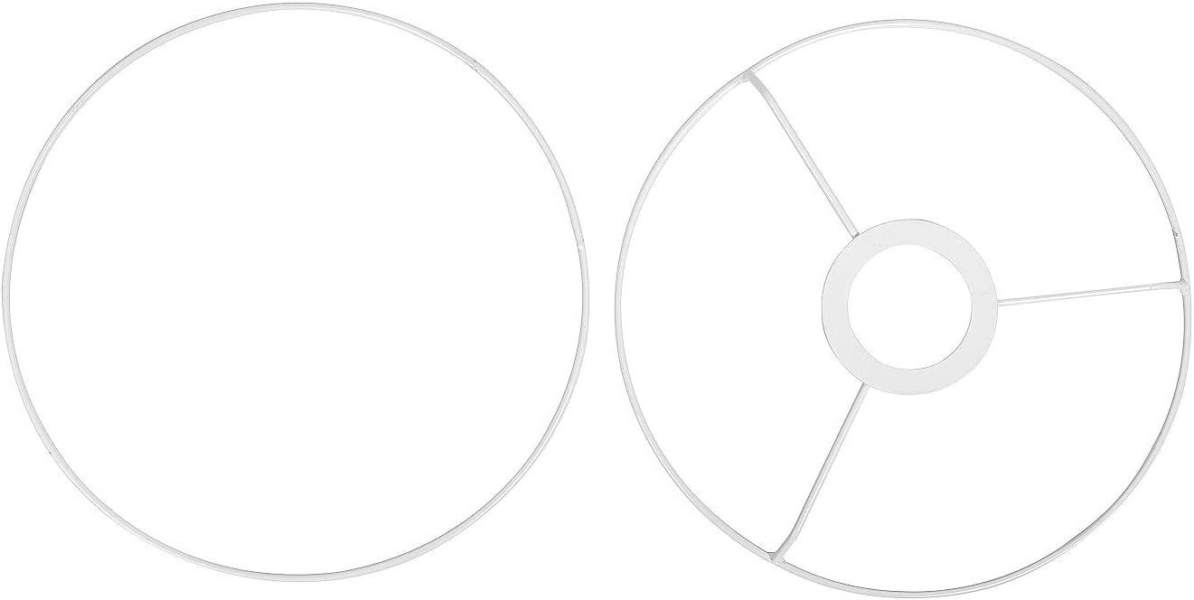 weiß Lampen-Ringe-Set 2 Stück E 27 von VBS Ø 40 cm