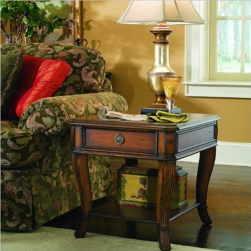Hooker Furniture Brookhaven Wood Top End Table in Clear Cherry For Sale