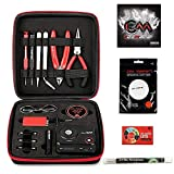 Coil Master 100% Authentic DIY Kit V3 Tool Set for Home and Jewelry Repairs with Latest Coil Jig (V4)/Updated 521 Tab Mini V2 Ohm Reader/Tweezers/Heat Resistant Wire/ Exclusive LifeMods Bundle Edition