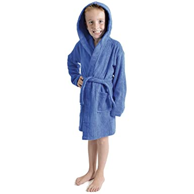 b127af8bb7 Style It Up Kids Boys Girls Terry Towelling Soft Dressing Gown Bath Robes  100% Cotton Hooded  Amazon.co.uk  Clothing