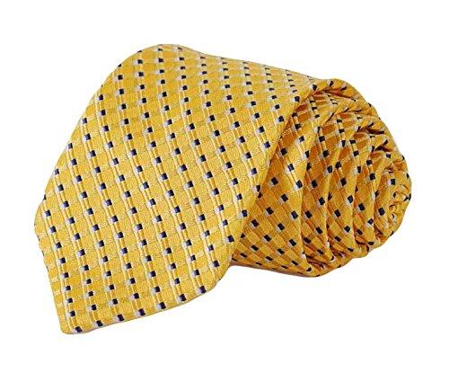 Yellow Striped Silk Necktie - 5