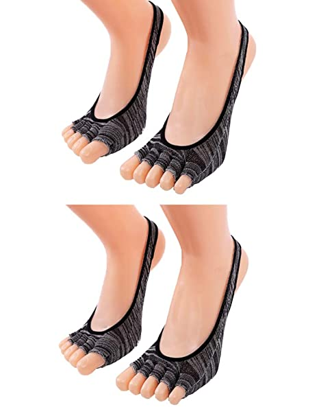 Amazon.com: lujuny antideslizante agarre de Yoga heelless ...