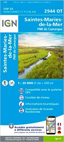Camargue Karte.Saintes Maries De La Mer Pnr De Camargue 1 25 000 Amazon De