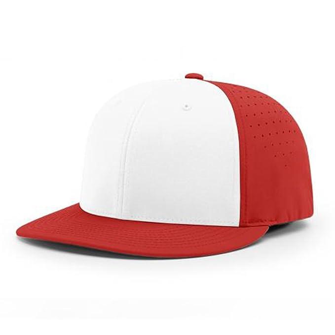 59e29a0ce5a Image Unavailable. Image not available for. Color  Richardson Performance  Lite Flexfit Baseball Cap (White Red)