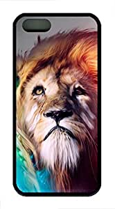 Illustration Cool Lion - iPhone 5S Case Funny Lovely Best Cool Customize Black Cover