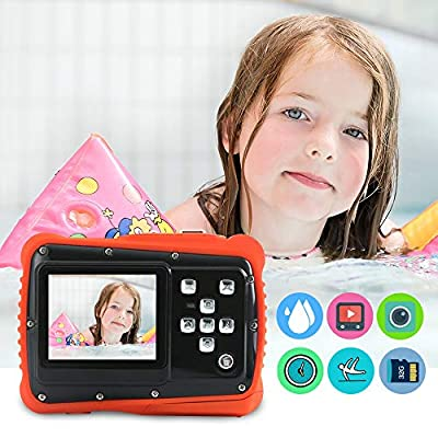 Waterproof Digital Camera for Kids,12MP HD Underwater Camera with 3M Waterproof,2.0 Inch LCD Display, 8X Digital Zoom, Flash and Mic for Boys Girls Gift from Funcam
