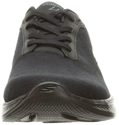 Skechers Women's Go Walk 4-Premier Low-Top Sneakers, Black Black (Bbk)