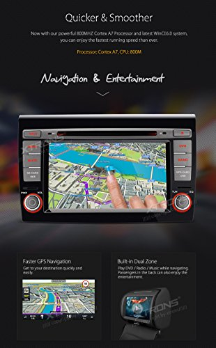 XTRONS 7 Inch HD Digital Touch Screen Car Stereo In-Dash DVD Player with GPS CANbus Screen Mirroring for FIAT Kudos Map Card Included by XTRONS (Image #5)