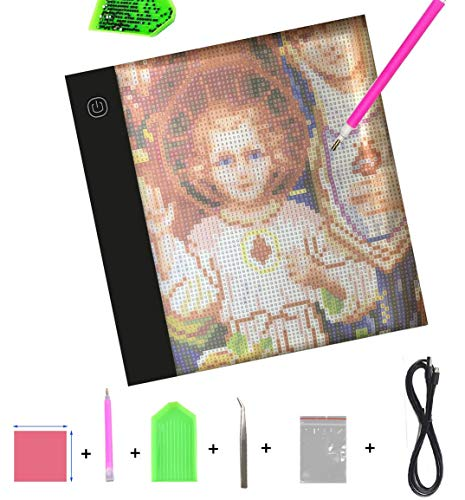 Diamond Painting A5 LED Light Pad Board Tablet Portable Dimmable Brightness, LED Artcraft Tracing Light Pad Light Box for Artists Student Drawing, Must Have for Paint with Diamonds by Imentha (Image #10)