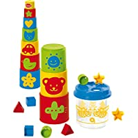 Gowi Toys 20 pc. Puzzle Box and Stacking Tower Combo