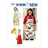 KWIK-SEW PATTERNS Kwik Sew K3247 Apron and Oven Mitt Sewing Pattern, No Size