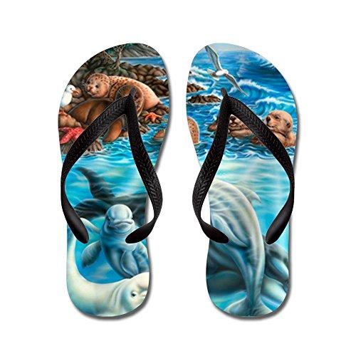CafePress Life_23X35 - Flip Flops, Funny Thong Sandals, Beach Sandals Black