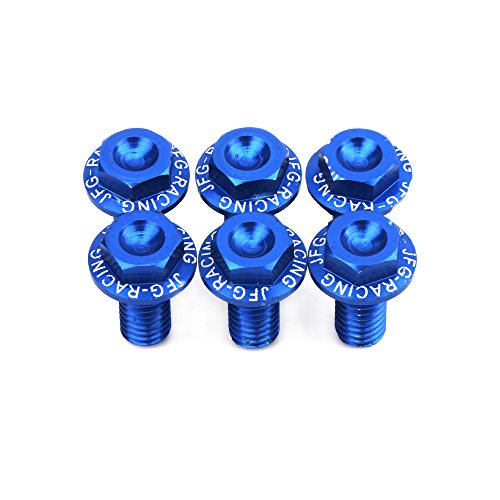 CNC Aluminum 6 PCS Mudguard Upside Down Damping Fork Guard Bolt For YZ125 YZ250 YZ250F YZ450F WR250F WR250R WR250X WR450F DRZ400 - Blue by Unknown
