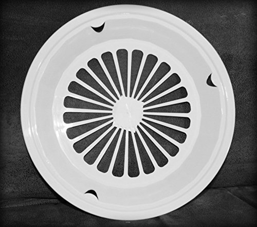 4 WHITE 3-TAB STYLE PAPER PLATE HOLDERS, PICNIC, BBQ, PARTIES, & (Plate Tab)
