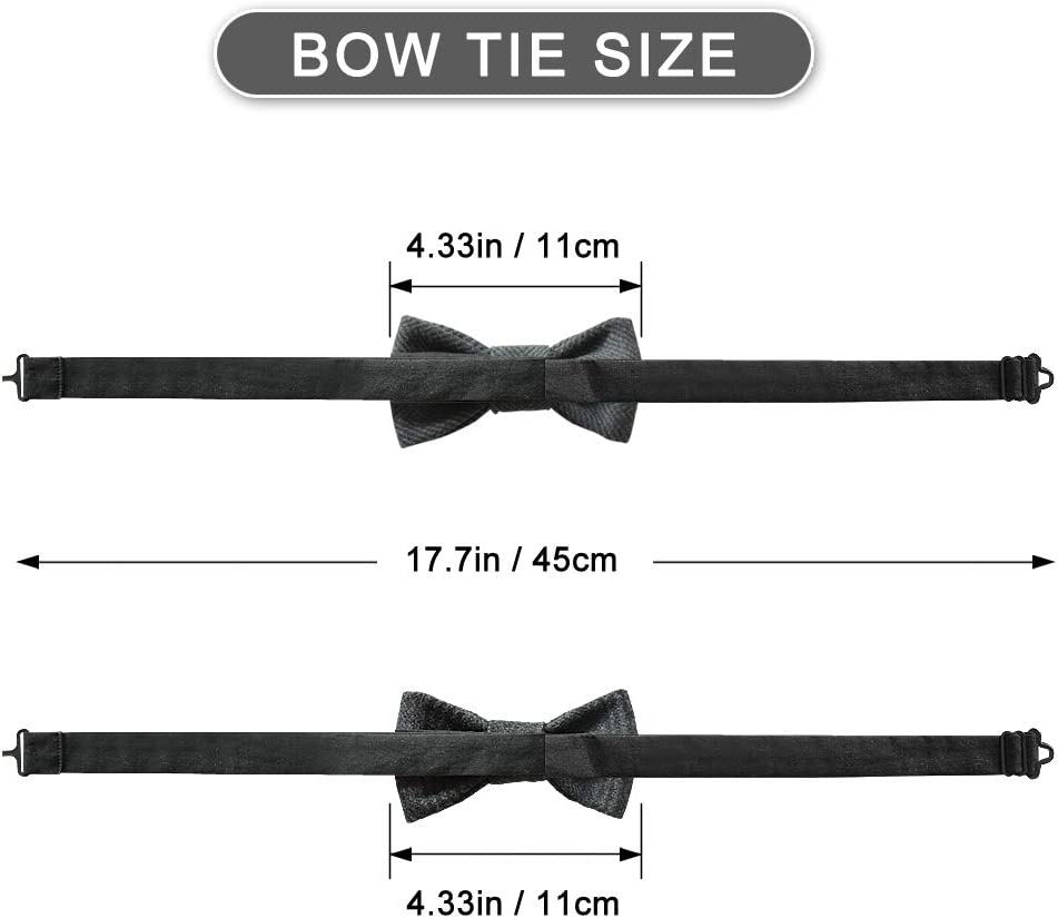 Elegant Pre Tied Formal Solid Bowtie for Men /& Boys AYAMAYA Adjustable Bow Ties Classy Weddings Party Bowties Necktie for Adults /& Kids Gray