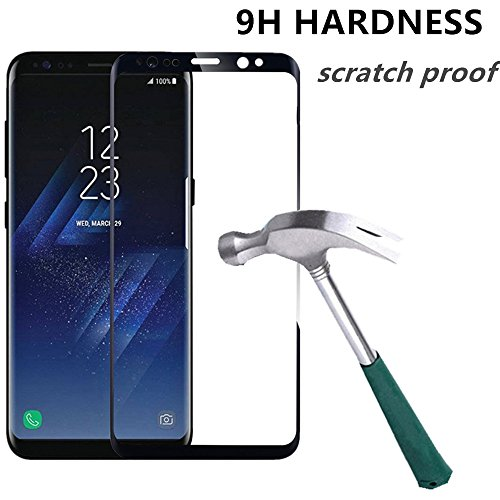 Samsung Galaxy S8 Plus Tempered Glass Screen Protector, TOPBIN [Full Coverage] 2 Pack Scratch Resistant Super Strong 9H Hardness Screen Protector for Samsung Galaxy S8 Plus