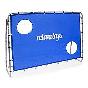 Relaxdays Fußballtor mit Torwand HBT 152 x 212 x 76 cm Torschusswand mit 2...
