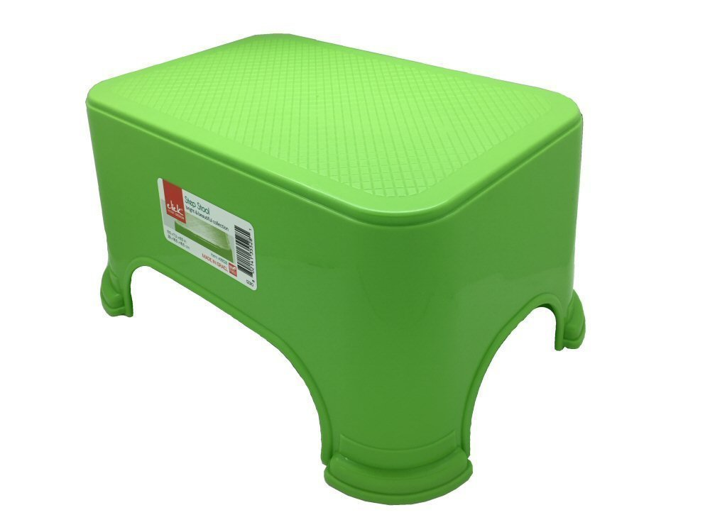 Click Home Design Step Stool Bright Beautiful Collection #35528 11.5 x 7.3 x 6.5 inches Green