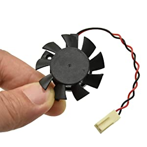 Artidux 5V 2Wire 2Pin Replacement fan for DaHua DVR/HDCVI Camera Fan DVR Motherboard Fan DAHUA Heatsink Cooling Fan