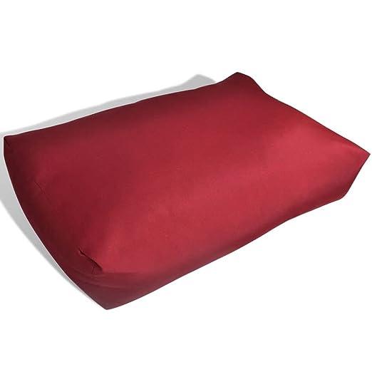 vidaXL Cojín de Asiento de Silla Acolchado 60x40 cm Poliéster Rojo Almohadilla