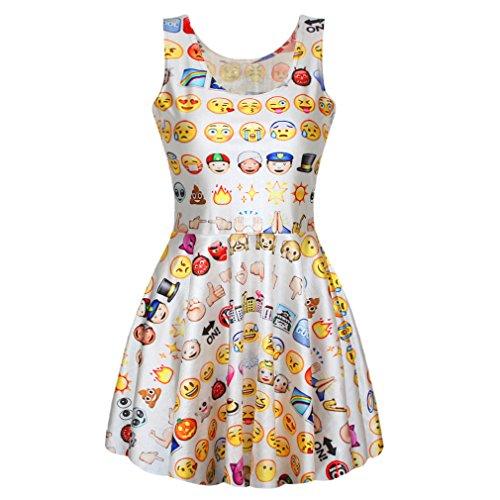 Amour- Digital Print Skater Dress (a-emoji)
