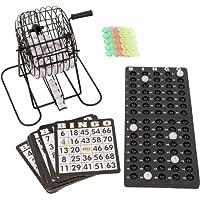 Azul Ridge novedad Juego de bingo–17.8cm jaula con Bingo bolas, bola Rack, 18tarjetas y Chips