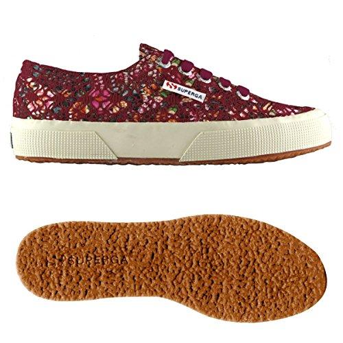 Superga Sneaker Basse Laceflowersw Multicolor 2750 Adulto – Bordeaux Unisex PrqErO