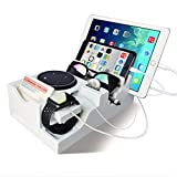 Best Valets For Watch Jewelries - Giftgarden Multiple Devices Charging Station Piggy Bank Dock Review