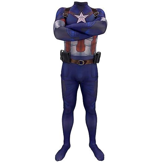 QWEASZER Disfraz de Disfraces básico Oficial de Capitán ...