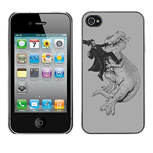 Funny Abraham Lincoln - For Apple iPhone 4 / 4S