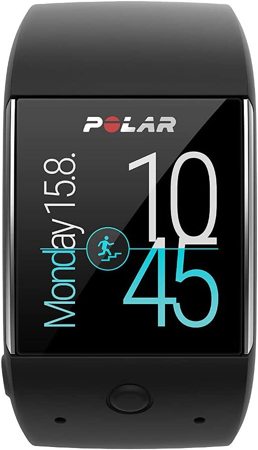 Polar M600 Smartwatch con GPS Integrado y Pulsómetro de Muñeca, Unisex Adulto, Negro, M/L