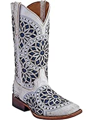 Ferrini Ladies Mandala Square Toe Boots