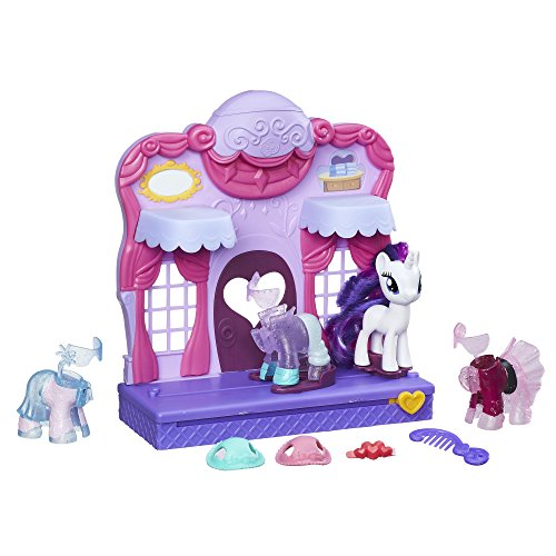 My Little Pony Friendship is Magic Rarity Fashion Runway Playset - Fun My Little Pony Toys Set - Slide Rarity into a Glamorous Outfit to Have Her Strut Up and Down the Catwalk in Style