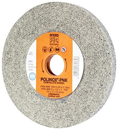 5100 Maximum RPM PFERD 48200 POLINOX PNK Non-Woven Abrasive Convolute Wheel Silicon Carbide 6 Diameter x 1//2 1 Arbor Hole Fine Grit