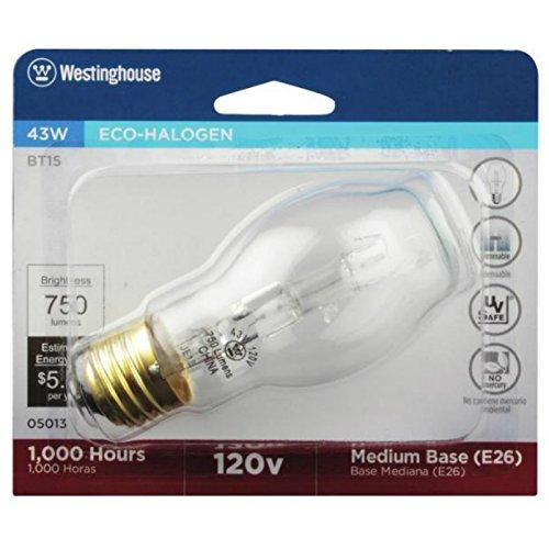 Westinghouse BT15 Clear Eco-Halogen Light Bulb, 43W