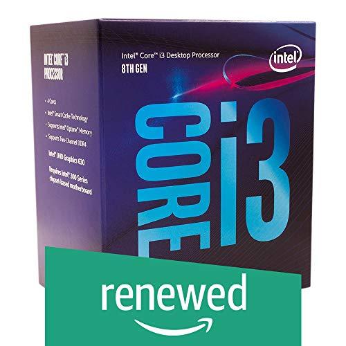Intel Core i3-8100 Desktop Processor 4 Cores up to 3.6 GHz Turbo Unlocked LGA1151 300 Series 95W (Renewed)