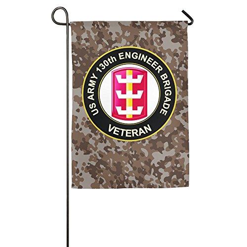 FFFlag-er Flag US Army 130th Engineer Brigade Veteran Family Flag Patio Holiday Flag Stand holder Pole ()