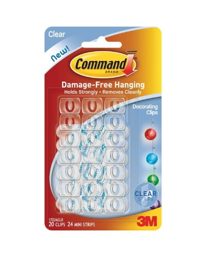 Decorating Clips - 3M Command Decorating Clips, Clear, 80-Clip (17026CLRVP)