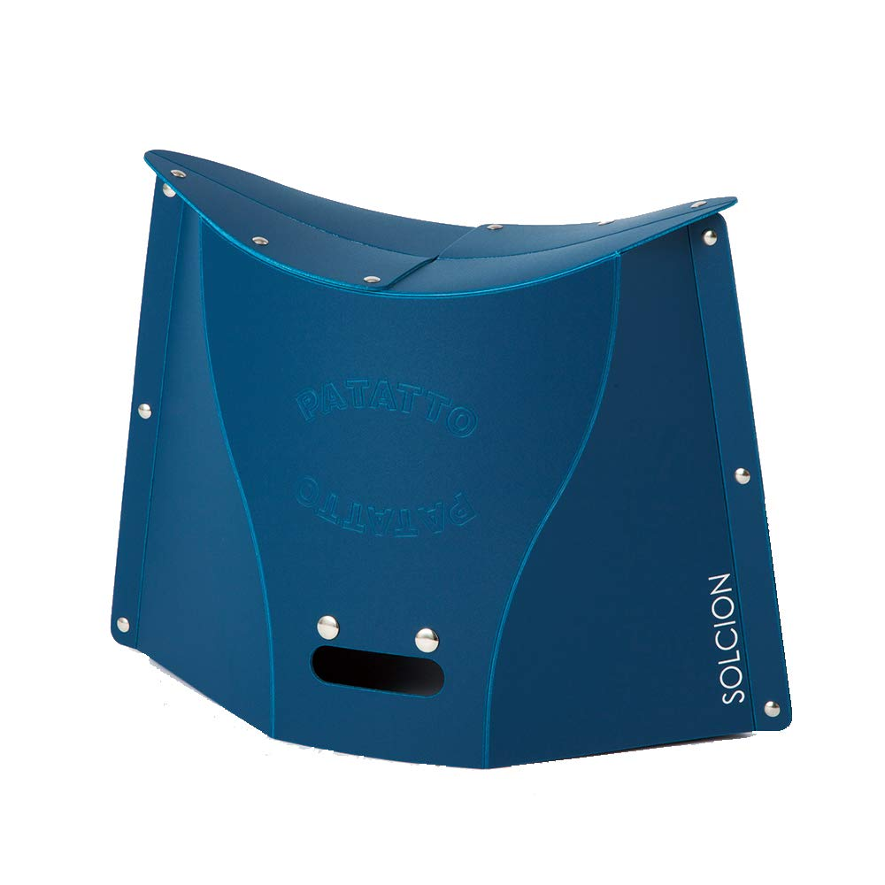 SOLCION Portable Folding Stool for Camping, Fishing, Hiking. 300 Model, Lightweight 0.6kg, Load Capacity 100Kg. Easy to Carry and Store. Suitable for Adults and Kids Indoors or Outdoors(Navy Large)
