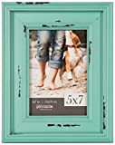Gallery Solutions 5x7 Distressed Teal Tabletop Picture Frame