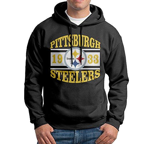 - HYD Custom Pittsburgh Steeler Men's Long Sleeve Hoodies L Black