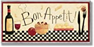 The Stupell Home Decor Collection Bon Appetit Kitchen Wall Plaque