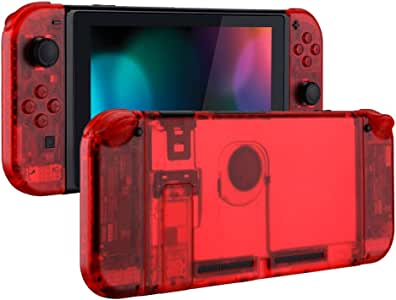 eXtremeRate Back Plate for Nintendo Switch Console, NS Joycon Handheld Controller Housingwith Full Set Buttons, DIY Replacement Shell for Nintendo Switch