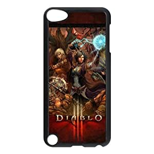 Q1E48 Diablo III sangrientos funda D4P3WD batalla iPod Touch funda 5 casos cubren DJ6LSC2SN negro